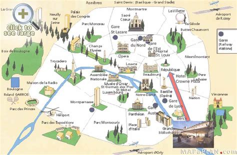 best map maps top tourist attractions free printable