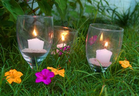 Garden Candle Sticks 3 Ways To Reuse Broken Stemware As Garden Candle Holders