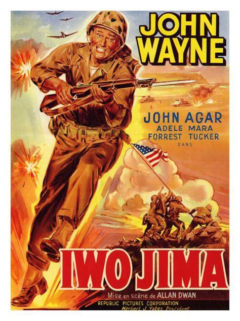 john wayne war movies sands of iwo jima john wayne war movie poster print new ebay