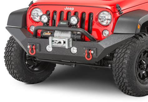 jeep jk rugged ridge bumper rugged ridge 11548 01 spartan front bumper with high clearance ends overrider for 07 18 jeep