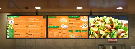 food court sign board design menu board signs in nyc for cafe and food businesses