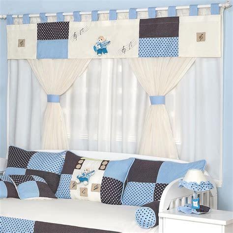cortina de bebe cortina quarto enxoval beb 234 menino urso musical 2 00m