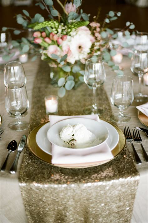 wedding table runners gold gold and pink tabletop elizabeth anne designs the