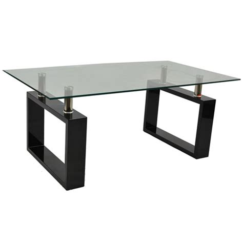 Buy Glass Coffee Table Monza Contemporary Rectangular Glass Coffee Table In Brown Buy Coffee Tables Discount