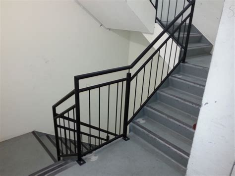 steel banister galvanised steel balustrade to fire stairs elite balustrades