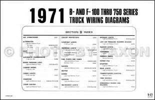 1971 ford and truck wiring diagram original f100 f250 f350 f500 f600 and b series