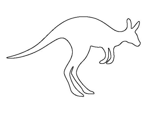 printable kangaroo template kangaroo pattern use the printable outline for crafts