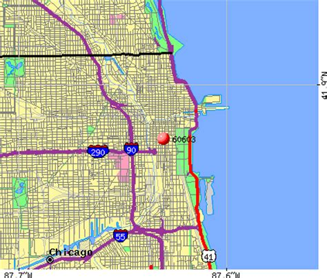 chicago map zip codes zip code map chicago il images