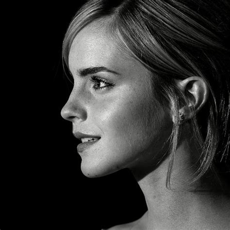 celebrities pictures emma watson black and white profile for ipad 2 fav