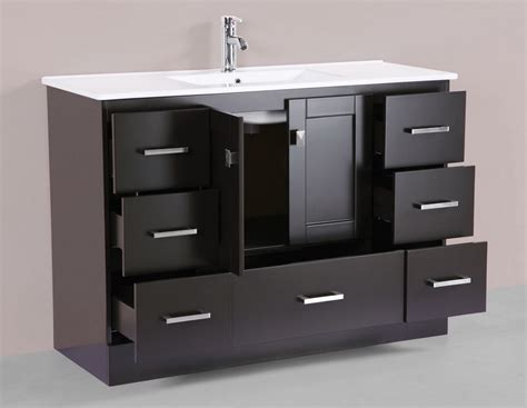 Modern Single Sink Bathroom Vanities by 48 Quot Redondo Espresso Single Modern Bathroom Vanity With