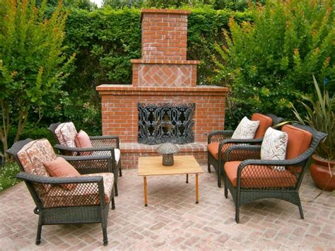 Brick Outdoor Fireplace Designs by Outdoor Brick Fireplaces Hgtv
