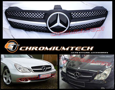 chrome benz 2004 2008 mercedes cls class w219 black chrome or silver
