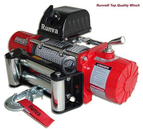 Winch Runva Ewg 10 000 11xp 11 000lb 12v 24v winch with steel cable winch