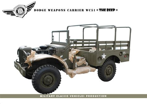 dodge wc     p programme military classic vehicles