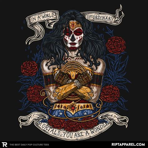 day of the dead wonder woman t shirt the shirt list