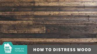 how to distress wood youtube