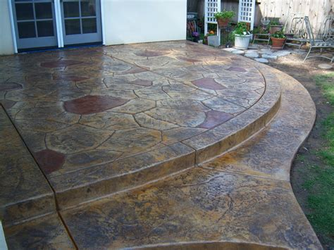 acid stained concrete patio diy the combination of the