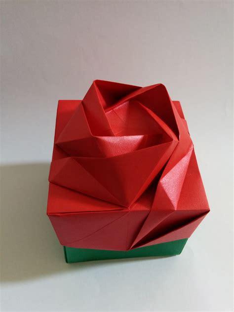 Rosa De Origami - caixa rosa origami origami by tchami elo7
