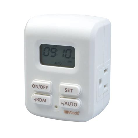 woods 2 outlet grounded programmable indoor 7 day