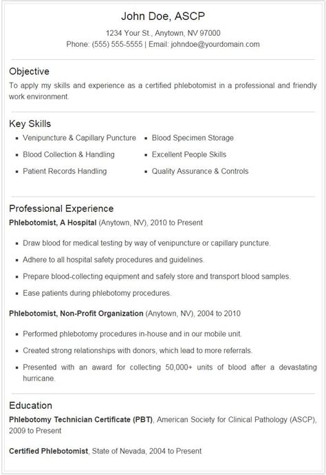 Sample Phlebotomist Resume by Phlebotomist Resume Sample Plus Downloadable Template