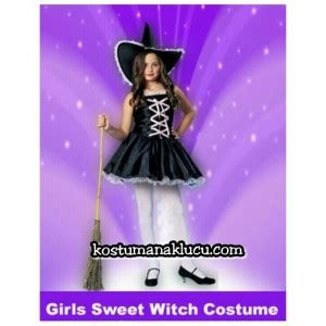 kostum penyihir wanita kostum anak lucu