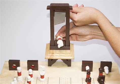guillotine for card chess set guillotine custom card board game analoggames