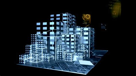Proyektor Mapping projection mapping on 3d cubes at