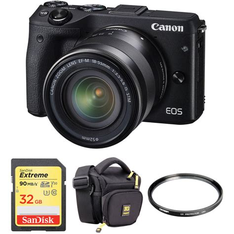 Canon Eos M3 Mirrorless canon eos m3 mirrorless digital with 18 55mm lens and b h