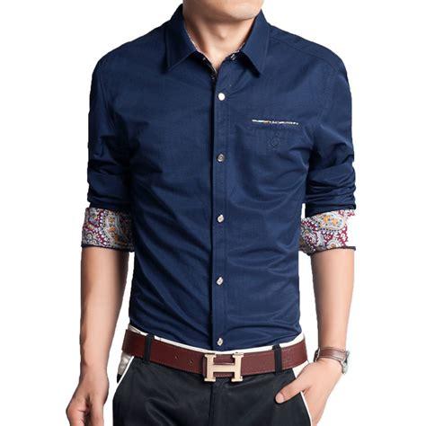new fashion solid plus size slim shirt print