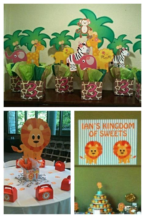 zoo themed birthday party supplies jungle safari zoo birthday party centerpieces