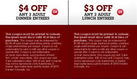 printable restaurant coupons red lobster red lobster so many discounts