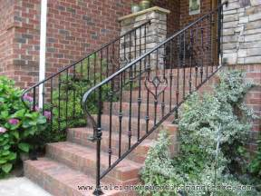 Outside Handrails For Stairs Durham Nc Custom Wrought Iron Railings Raleigh Wrought