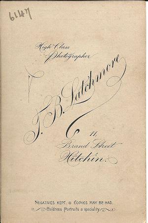 hertfordshire genealogy: latchmore, photographer, hitchin