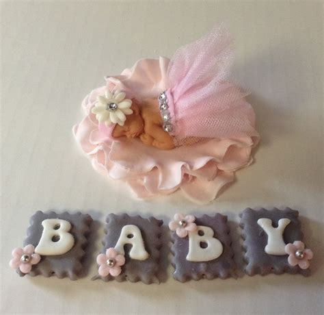 Baby Shower Cake Toppers For Sale by Baby Shower Cake Topper Fondant Baby On Luulla