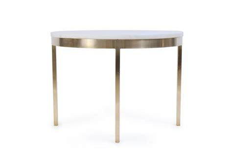 marble accent tables brass and marble round accent table by nicos zographos at