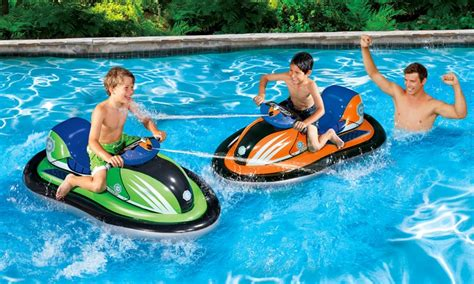 blow up boat bumpers banzai motorized cruiser toy groupon goods