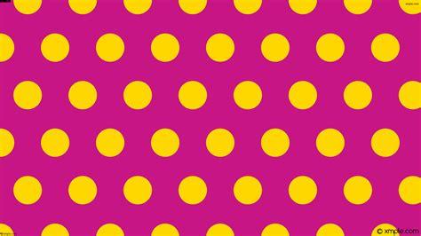 yellow with pink polka dots wallpaper polka dots yellow pink hexagon c71585 ffd700