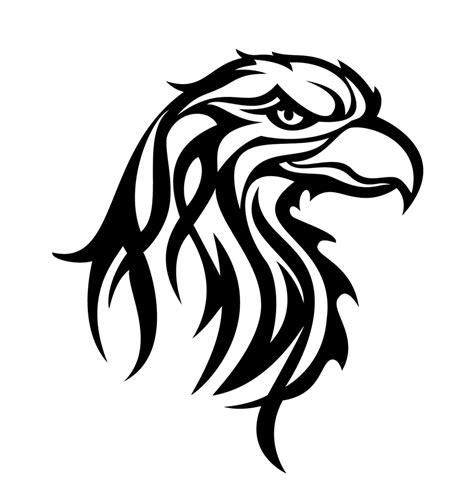 simple eagle tattoo designs tribal eagle head by rstovall jpg animl