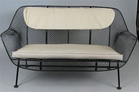 woodard vintage wrought iron patio furniture vintage wrought iron settee by woodard at 1stdibs