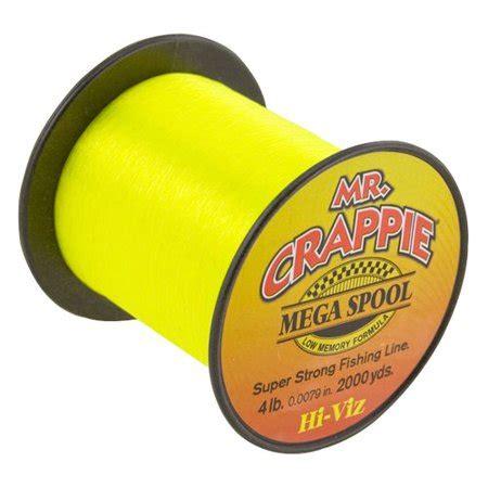 crappie mega spool  hivis lb walmartcom
