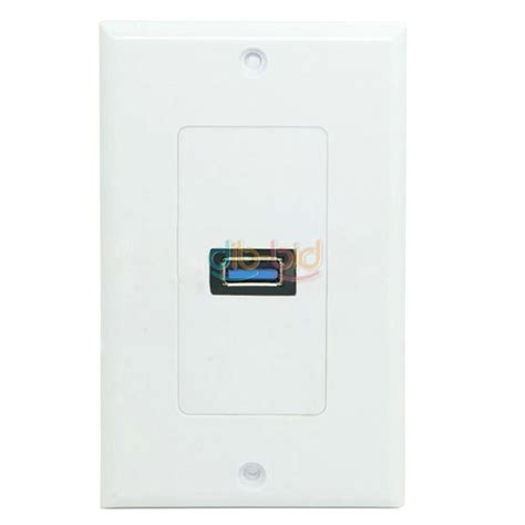 usb outlet wall plate chargers single usb port wall charger plate coupler outlet power