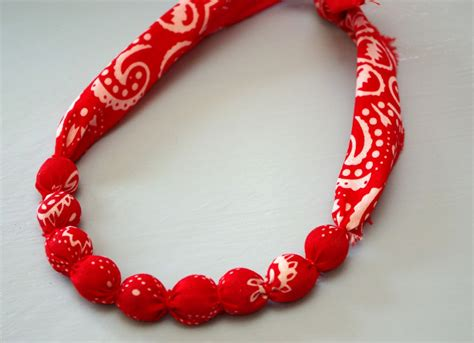 how to make a bandana bandana necklace tutorial happiness is