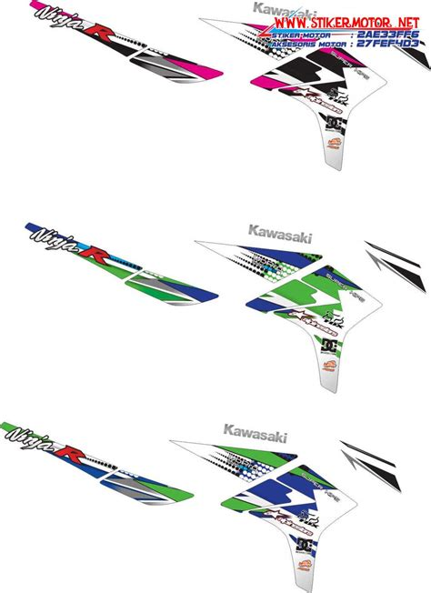 Stiker Racing Ninja R by Kawasaki Stikermotor Net