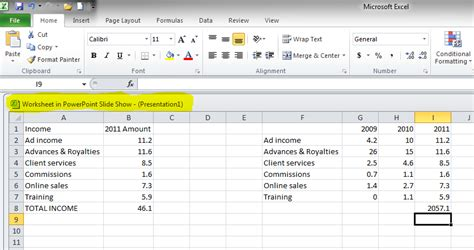 Live Spreadsheet by Insert A Live Excel Spreadsheet Onto A Slide