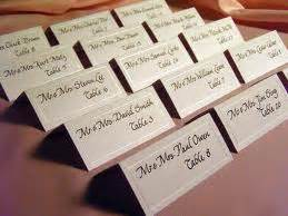 write wedding place cards the center n is for name cards