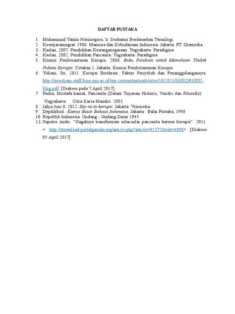 penulisan daftar pustaka bersumber dari undang undang contoh daftar pustaka undang undang virallah