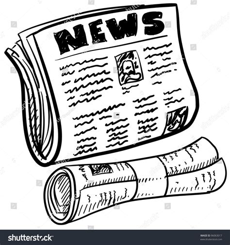 Newspaper Folded Stock Vector More Images Of Article 158578801 Istock Doodle Style Newspaper Illustration Vector Format Stock Vector 96063017