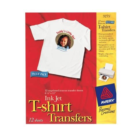 t shirt transfer template avery t shirt transfers for inkjet printers 8 5 x 11
