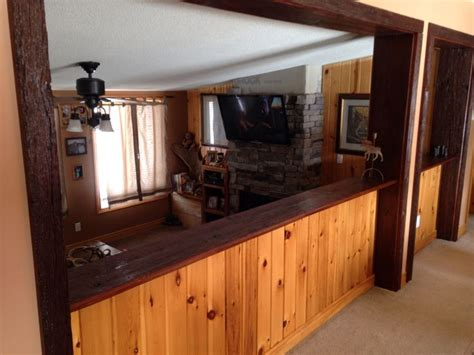 bar top trim reclaimed barn wood trim and bar top wood working pinterest