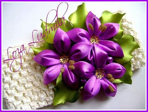 imagenes de flores kanzashi 831 mejores im 225 genes de kanzashi flower en pinterest